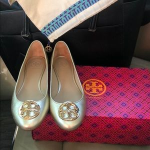Tory Burch Claire Gold Flats Size 7.5